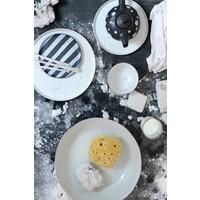 HKliving Speiseteller Keramik Weiß Ø 28cm
