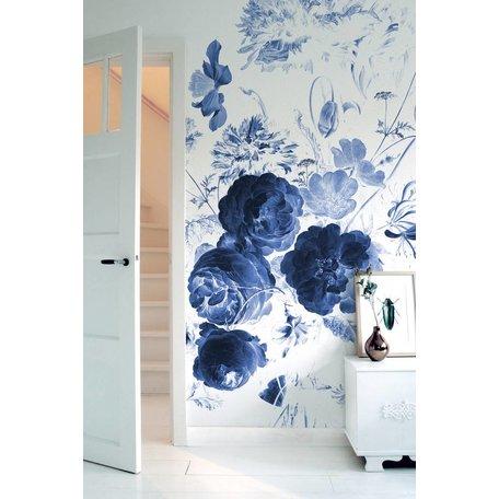 Foto Tapete Royal Blue Flowers I