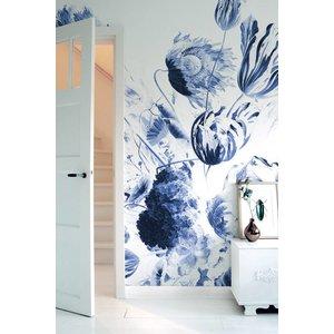 KEK Amsterdam Photo Wallpaper Royal Blue Flowers II