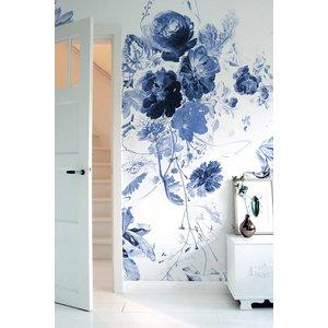 KEK Amsterdam Photo Wallpaper Royal Blue Flowers III
