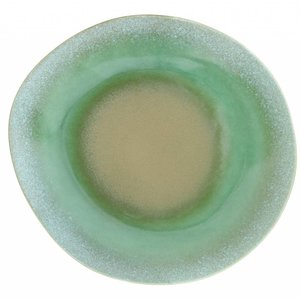 HKliving Teller 70's Keramik grün Ø 29cm.