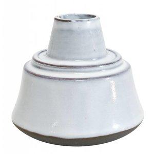 HKliving Vase Keramik weiß