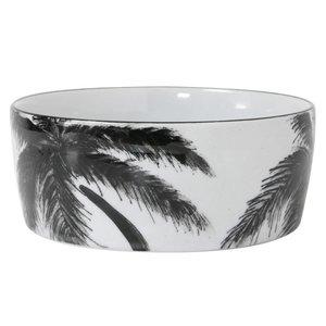 HKliving Porcelain dish 'palm' jungle