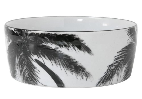 HKliving Porcelain dish 'palm'