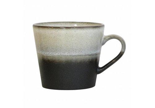HKliving Tasse Cappuccino 70's Keramik 'rock'