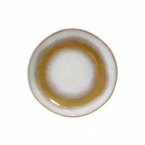 HKliving Plate Desert 70's Ceramic 'snow'