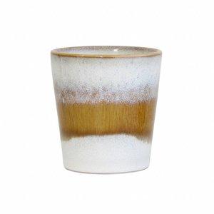 "HKliving Cup 70's ceramic ""Snow"""