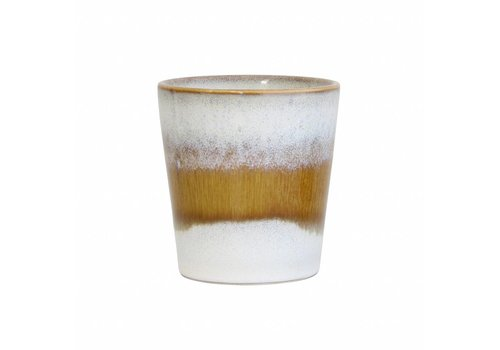 HKliving Tasse 70's Keramik 'snow'