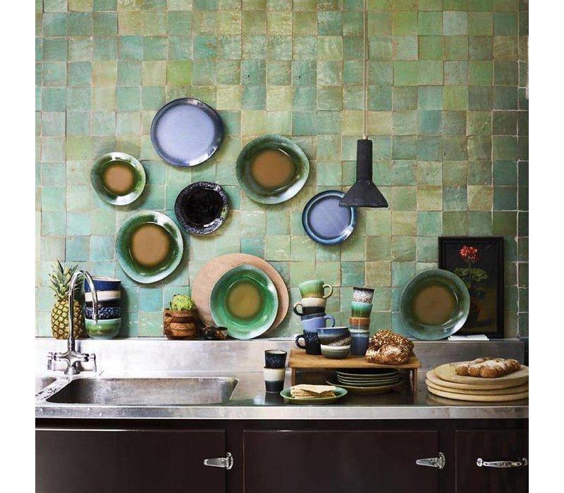 HKliving Kuchenteller 70's Keramik 'moss'