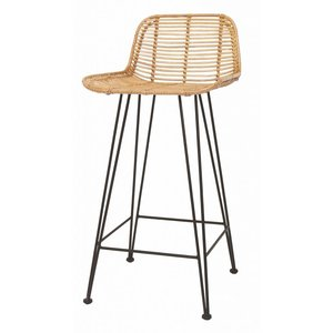 HKliving Barstool Rattan naturel