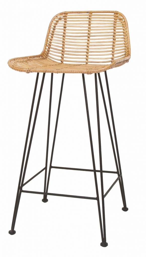 hkliving barhocker rattan naturel orangehaus. Black Bedroom Furniture Sets. Home Design Ideas