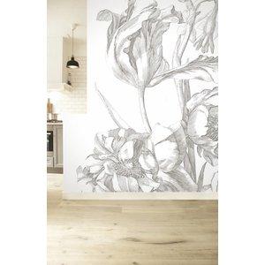 KEK Amsterdam Photo Wallpaper 'Engraved flowers I'