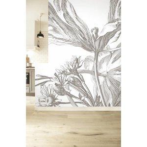 KEK Amsterdam Photo Wallpaper 'Engraved flowers III'