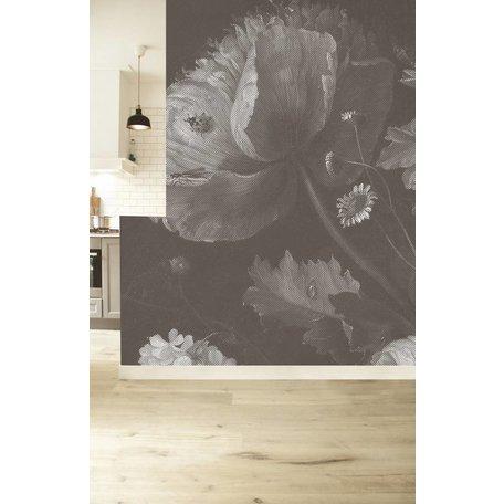 Fototapeten 'Big black & white flowers I'