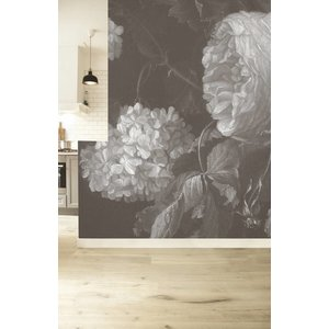 KEK Amsterdam Photo Wallpaper 'Big black & white flowers II'