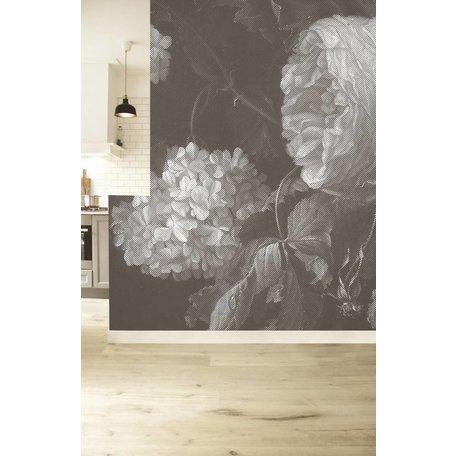Fototapeten 'Big black & white flowers II'