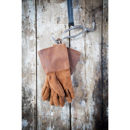 Oven gloves brown leather