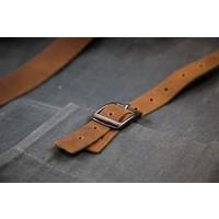 Brût Home Industrials Schürze Canvas Leder braun/blau