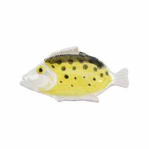 &Klevering Anouk fishplate small yellow 16,5x9cm