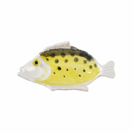 Anouk Fisch Teller klein gelb schwarz 16,5x9cm