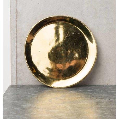 Teller Grow Keramik Gold 14cm