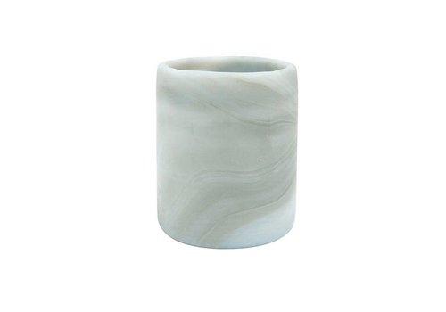 HKliving Teelichthalter Jupiter Glas. 7,5x7,5x9cm