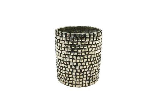 HKliving Teelichthalter Silber- 7x7x8,5cm