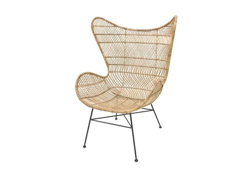 HKliving Rattan egg chair natural bohemian