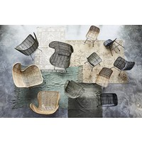 HKliving Rattan egg chair natural bohemian
