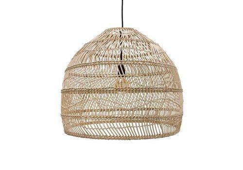 HKliving Hanglamp handgevlochten riet naturel - 60cm