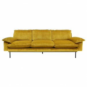 HKliving Sofa 4 -Sitzer Retro Ocker