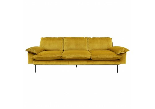HKliving Sofa 4-zits retro oker