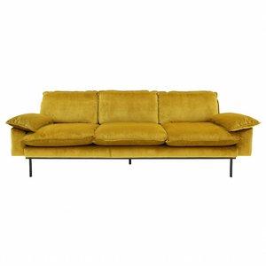 HKliving Sofa 3-Sitzer Retro Ocker