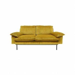 HKliving Sofa 2-Sitzer Retro Ocker