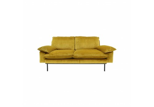 HKliving Sofa 2-zits retro oker