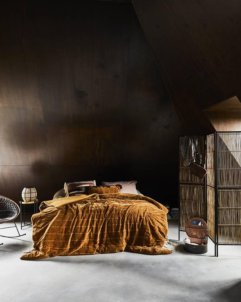 Hkliving Laterne Kugel Bambus Schwarz Textil Natur 29 5x29 5x30 5cm