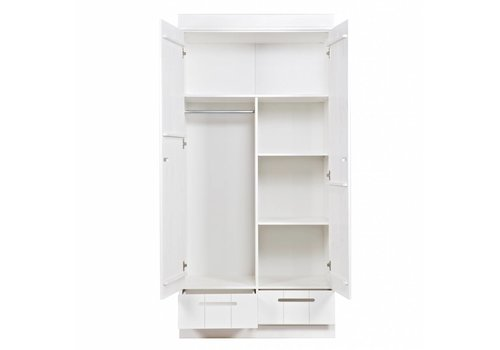 WOOOD Interior pack wardrobe Connect 2 doors 2 drawers white