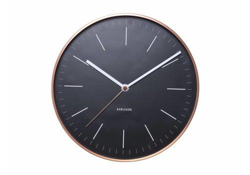 """Karlsson Wanduhr """"Minimal"""" schwarz/kupfer Ø27,5cm"""