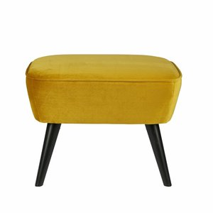 WOOOD Hocker Sara on legs ochre