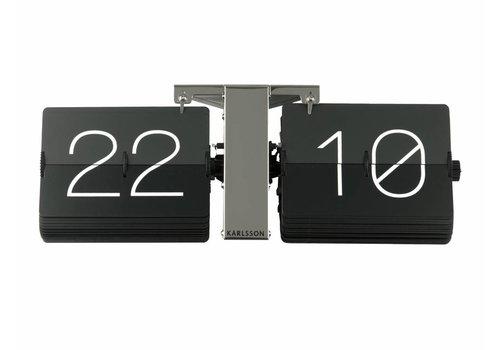 Karlsson Wall clock Flip steel