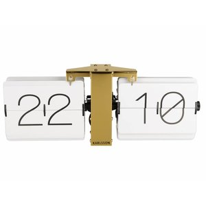 Karlsson Wall clock Flip gold