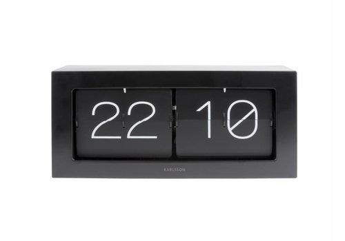 Karlsson Clock Flip Boxed XL black
