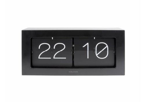 Karlsson Flip Clock boxed XL black