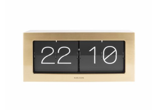 Karlsson Flip Clock boxed XL Gold