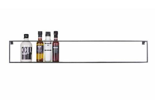 WOOOD Wandplank Meert metaal zwart 100cm
