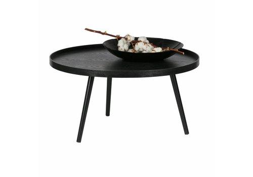 WOOOD Coffee table Mesa XL black 78x78x39cm