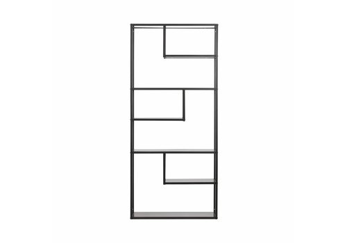 WOOOD Wall Rack  metal/MDF black 188x85x35cm