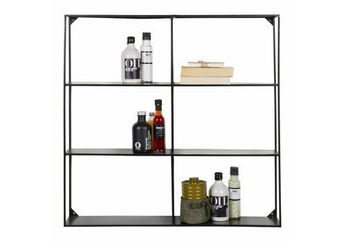 WOOOD Wall shelf Meert metal black 90x90cm