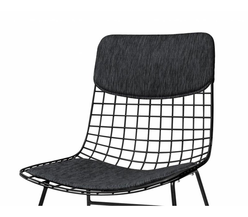 HKliving Comfort Kit Für Drahtstuhl schwarz