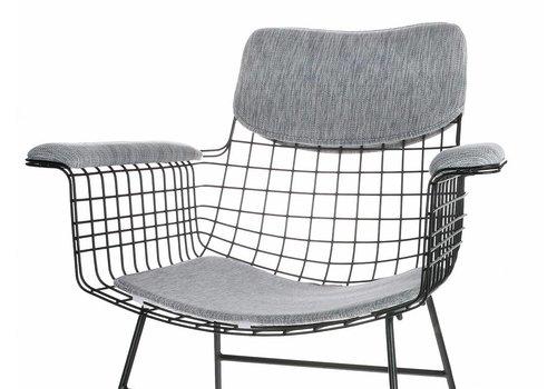 HKliving Comfort Kit Voor Draadstoel Armleuning grijs